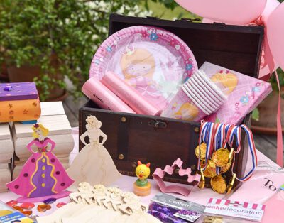 Kindergeburtstag Prinzessin Party, bis 6 Personen, All-in-one Box